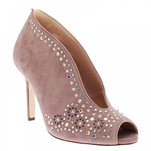 Hogl Star Studded Ankle Boot 6.5 Taupe Suede (Studded Suede Boot)