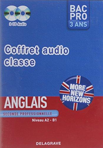 Coffret More new horizons Anglais Seconde Professionnelle audio classe Bac Pro 3 ans : 2 Cd Audio, Niveau A2-B1
