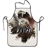 ouyjian Waist Apron Cool Owl Funny Cooking Apron for Men - BBQ Grill Kitchen Chef...