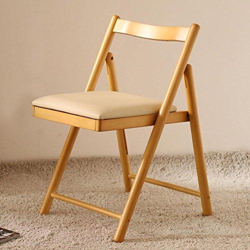 KSUNGB Klappbarer Stuhl aus Holz Massivholz Ergonomie Wohnzimmer Stühle/Hocker Essensstuhl Schüler...