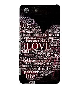 99Sublimation Heart and Passion 3D Hard Polycarbonate Back Case Cover for Sony Xperia M5 Dual :: E5633 :: E5643 :: E5663