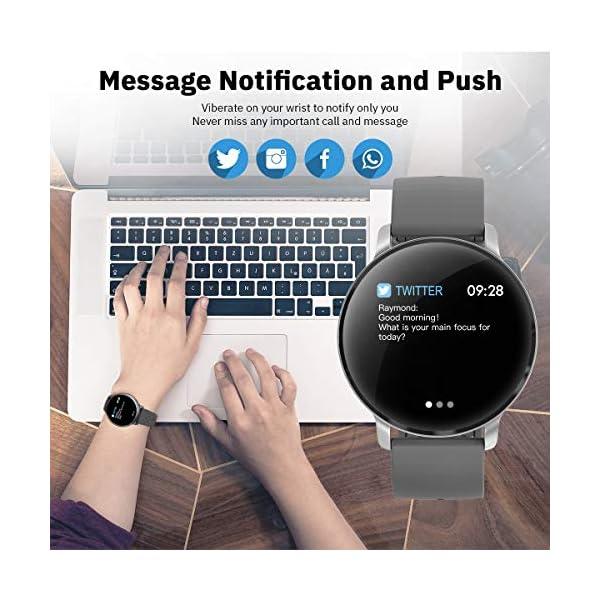 CatShin Smartwatch, Reloj Inteligente para hombre mujer, IP68 Impermeable reloj de fitness con Podómetro Pulsómetros… 3