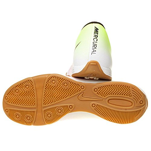 Nike Mercurial Vortex II Ic, Scarpe da Calcio Uomo Bianco (Blanco (Blanco (White/Black-Volt-Total Orange)))