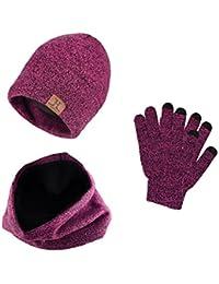 Heekpek® Bufanda Gorro Guantes para Hombre Invierno Regalos para Hombre  Mujer Unisexo be61a7d363c