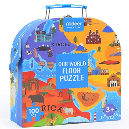 LH-PT Jigsaw World Map Puzzle Kinder Lernspielzeug Early Learning Paper Dinosaurier Puzzle Cartoon Tiere - je 100 Stück - Dinosaurier-puzzle Stück 24