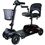 Cougar 4 Compact portable travel mobility scooter in black / grey
