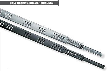 """100% Genuine Godrej Ball Bearing Drawer Channel (Runner) - 300mm (12"""") - Telescopic (Regular) - Loading Capacity 45Kg - Zinc - 1 Pair"""