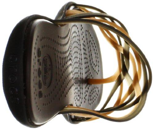 Crocs Huarache Flip Flop W, Donna Oro (Bronze/Espresso)