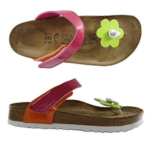 BIRKI'S BIRKENTSOCK ELEA FLOWER INFRADITO DONNA ciabatte sandali scarpe NORMAL (38, LACK KIWI/PINK/ORANGE)