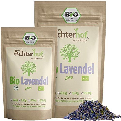 Lavendelblüten Bio Lavendel getrocknet (100g) aus Frankreich als Bio-Lavendel-Tee oder Gewürz...
