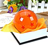 Bowee DragonBall Z bolas de en estuche de regalo 4 Estrellas Bolas de Cristal Dragon Ball aproximadamente 7 cm