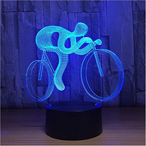 Weihnachtsgeschenke 3D Led Tischlampe Led 3D Fahrrad Form Lampe 7 Farben Usb Deco Lichter Reiten Sport Licht -