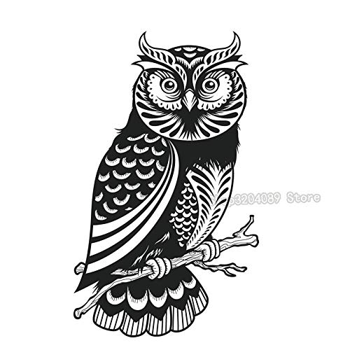 3D Kids Favorite Cute Owl Design Black Wall Stickers Living Room Bedroom Vinyl Hollow Out Animal Decals Decoration Y 56x93cm