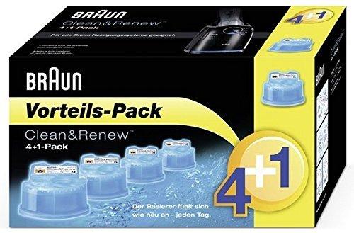 Braun Reinigungskartuschen CCR 4+1 (Rasierer Reiniger Braun Series)