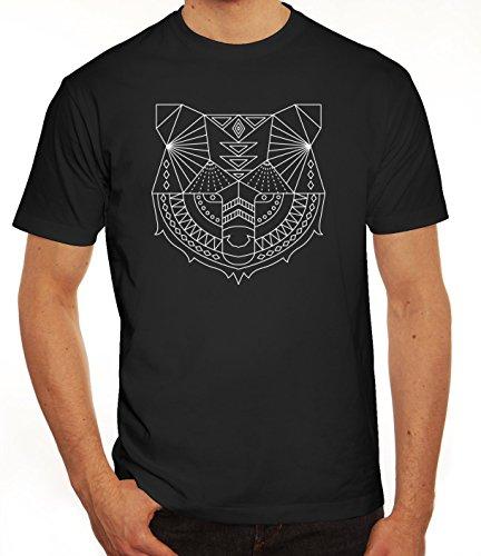 Tier Herren T-Shirt mit Polygon Bär Motiv von ShirtStreet Schwarz