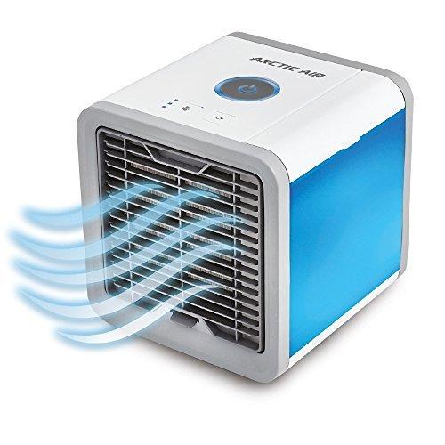 Arctic Air mobiles Verdunstungs Klimagerät Cool Luftkühler Befeuchter Ventilator mit USB Anschluß oder Netzstecker   Hydro-Chill Technologie   3 Kühlstufen - 7 Stimmungslichter   Das Original von Mediashop