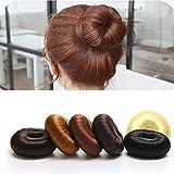 BELMIQUE Donut Hair Bun Maker Dutthilfe Knotenringe Knotenrolle Haarknoten Haarteil Dutt als Farbenauswahl Perfekt für lange Haare mit echtem Kunsthaar und leichte Anwendung, Braun