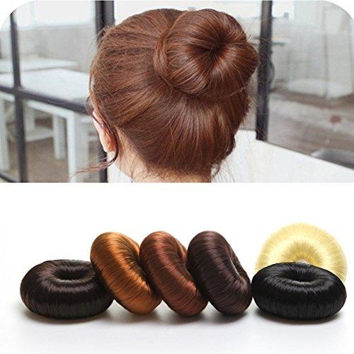 BELMIQUE Donut Hair Bun Maker Dutthilfe Knotenringe Knotenrolle Haarknoten Haarteil Dutt als Farbenauswahl Perfekt für lange Haare mit echtem Kunsthaar und leichte Anwendung, Blond