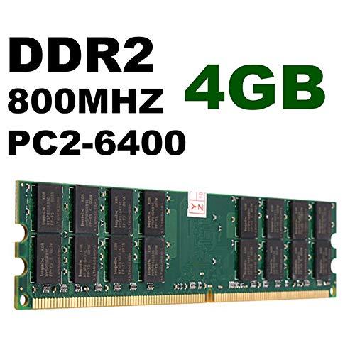 2 Stück DDR2 DIMM Desktop RAM-Speicher 4GB PC2-6400 800 MHz 1,8 V für AMD Motherboard System 240-polig(Schwarz) - Ddr2-speicher