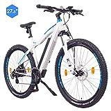 """NCM Moscow Bicicletta elettrica da Trekking, 250W, Batería 48V 13Ah 624Wh 27,5"""" Bianco"""