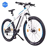 "NCM Moscow Bicicletta elettrica Mountainbike, 250W, Batteria 48V 13Ah 624Wh (Bianco 27,5"")"