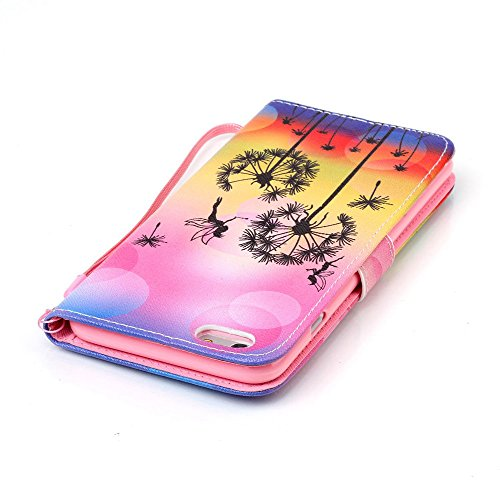 Coque Etui pour iPhone 6S Antichoc Portefeuille Cuir Coque Etui Flip Housse,iPhone 6S Coque Fille,iPhone 6S Coque Flip Wallet Leather Wallet Etui Coquille pour iPhone 6 4.7 Pouce,EMAXELERS iPhone iPho R Angel Girl 3