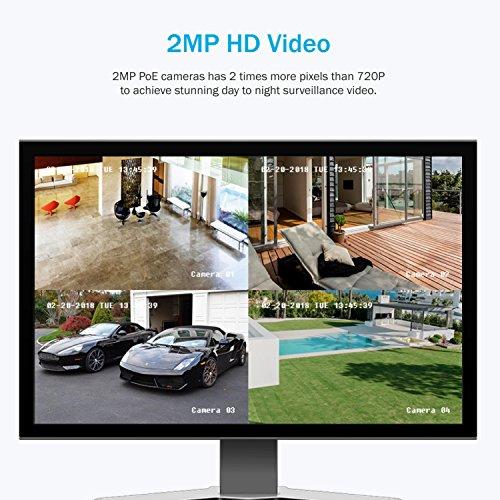 ANNKE-1080P-8CH-POE-Kit-de-8-Cmaras-de-Seguridad-6MP-NVR-CCTV-Cmara-de-vigilancia-20MP-IR-Cut-IP66-Impermeable-Interiores-Exteriores-Visin-Nocturna-Remoto-Acceso-Rpido-4TB-Disco-Duro