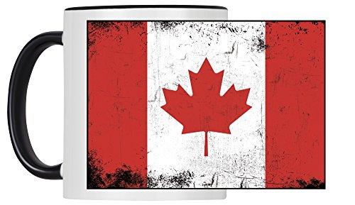 Tasse Fahne Retro Kanada weiß