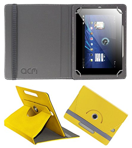 Acm Rotating 360° Leather Flip Case for Karbonn Smart Tab 3 Blade Cover Stand Yellow  available at amazon for Rs.149