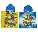 Pokemon Set of 2Kapuzen Poncho Bademantel Handtuch Wrap Bad und Strand für Babys & Kinder Gelb + Blau–Zwei Stück