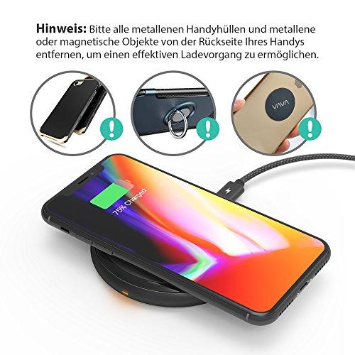 51IhoEjd0FL - [Amazon] RAVPower Qi kabelloses Ladegerät für iPhone X/8/8 Plus für nur 29,99€ statt 39,99€