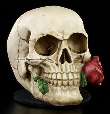 Rose From The Dead skull skeleton head ornament by Nemesis Now (NEM3721)
