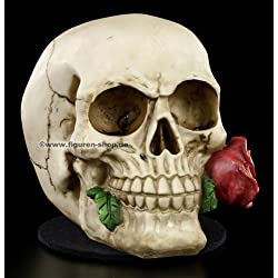 Rose From The Dead skull skeleton head ornament by Nemesis Now (NEM3721) by nemisis