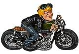 Bada Bing Figuren Biker Opa Motorradfahrer mit Helm Funny Job Witzig Geschenk Deko Geburtstag 71