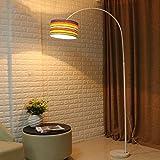 LIURONG Moderne Angeln Gear Bogen Stehleuchte Marmor Basis LED Stehleuchte, mit Fernbedienung, einstellbare Lichtfarbe. (Farbe : E-7w)