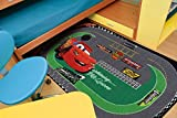 Disney Action Line Cars Tappeto, Materiale Sintetico, Multicolore, 133 x 19 cm