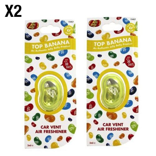jelly-belly-top-banana-flavour-vent-car-air-freshener-2-pack-twin-pack