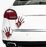 2 Blutige Hände von FINEST-FOLIA je 22cm Blutspuren Aufkleber Auto Sticker Frontscheibenaufkleber