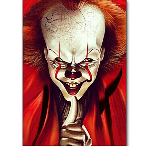 zhangshifa Schön Horror Clown 5D DIY Diamant Malerei Voll Quadrat Bohrer Stickerei Kreuzstich Mosaik Wohnkultur Geschenk 40X50CM (Horror Charakter Kit)