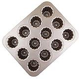 MyLifeUNIT-Carbon-Stahl-Schablone, 12 Formen, nicht-klebendes Material, golden