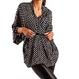 Young-Fashion Wickelbluse in Kimono-Form Blusenjacke Bluse in Jackenform mit Gürtel