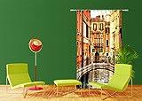 AG Design FCSL 7526 Brooklyn Bridge, Gardine/Vorhang, 1 Teil, Stoff, Mehrfarbig, 140 x 245 cm