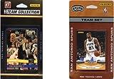 C & I Collectables NBA San Antonio Spurs 2verschiedene lizenzierte Trading Card Team Sets