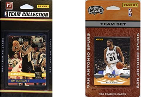 NBA San Antonio Spurs 2 Different Licensed Trading Card Team