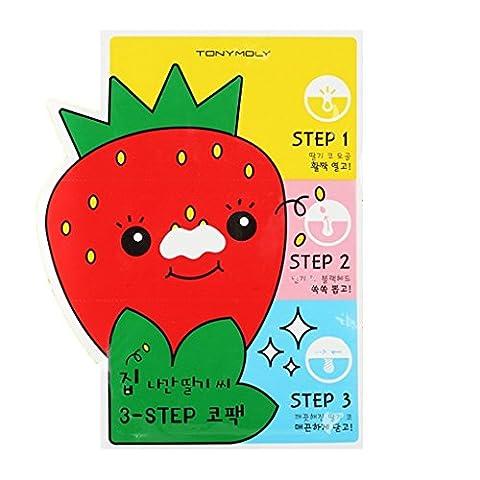 Pig Nose - Tony Moly - Strawberry Seed 3-Step Nose