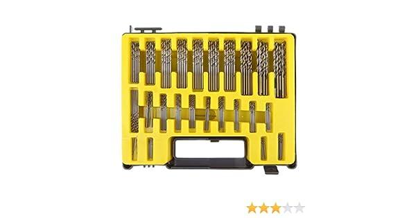 Vzer 150pcs Precision 0.4mm 3.2mm Micro Drill Bit Twist Set Mini HSS Drill...