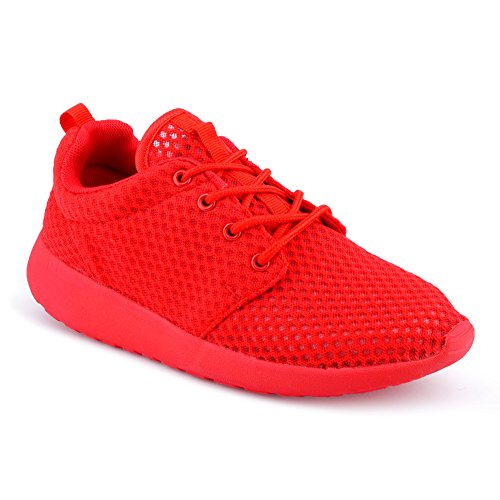 Herren Damen Sneaker Sneaker Sneaker Sportschuhe Lauf Freizeit Runners Fitness Niedrig Unisex Schuhe Rot/Damen  [B01DVY7YA0] ca87da