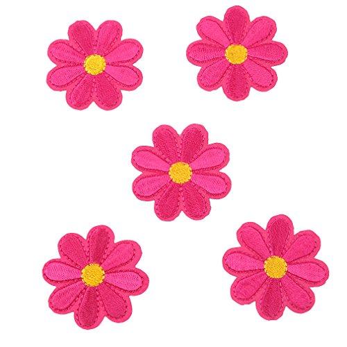 CanVivi Aufbügelbilder Blumen Set Patches Aufnäher Applikationen,Rose (Kostüm-verzierungen)