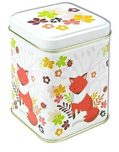 Nostalgie boîte à thé fOXTROTT renard caisse à thé