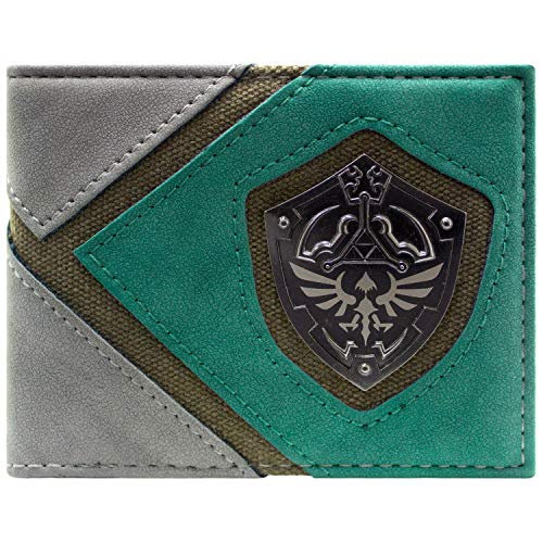 Cartera Legend of Zelda Link Silueta Escudo Verde